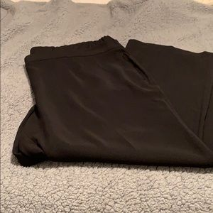 Talbots Black Crepe Pants with Wide Leg 24W